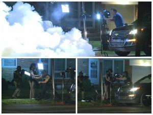 """Ferguson police fire tear gas near Al Jazeera crew, then disassemble the gear after they flee"""