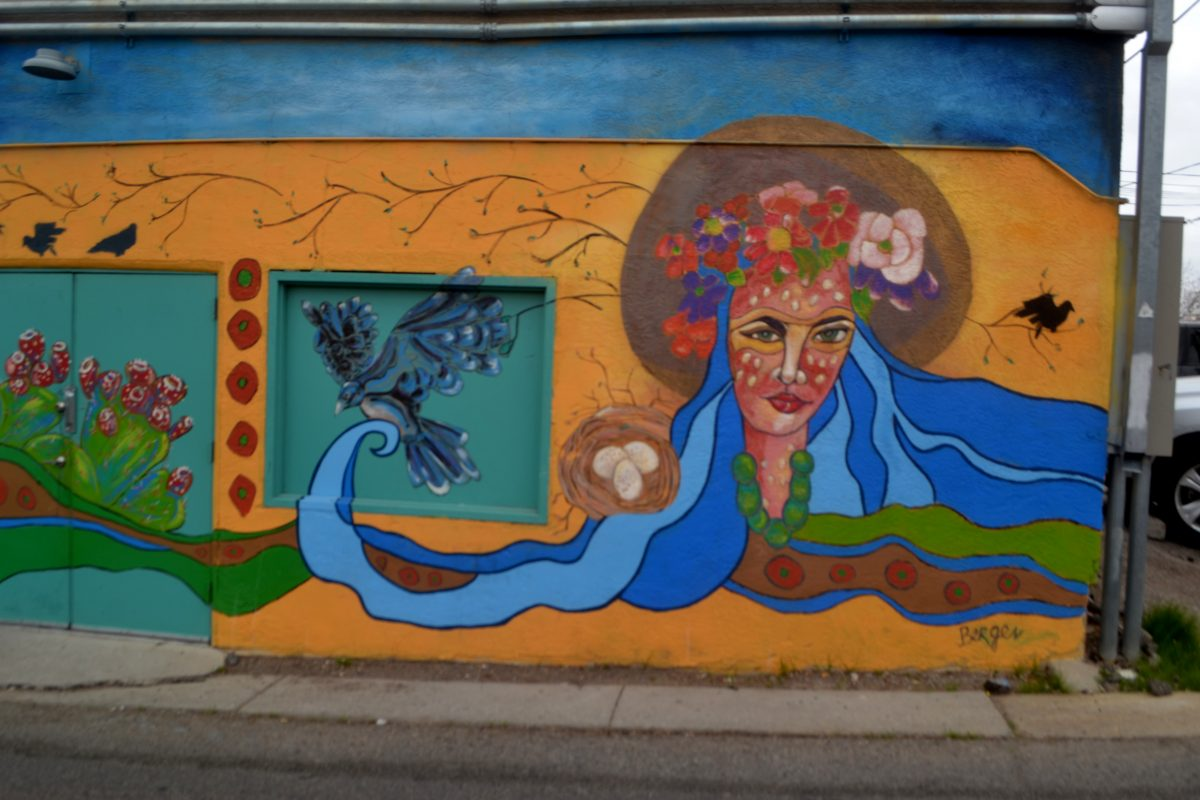 Blue Mural by Michelle Brooks